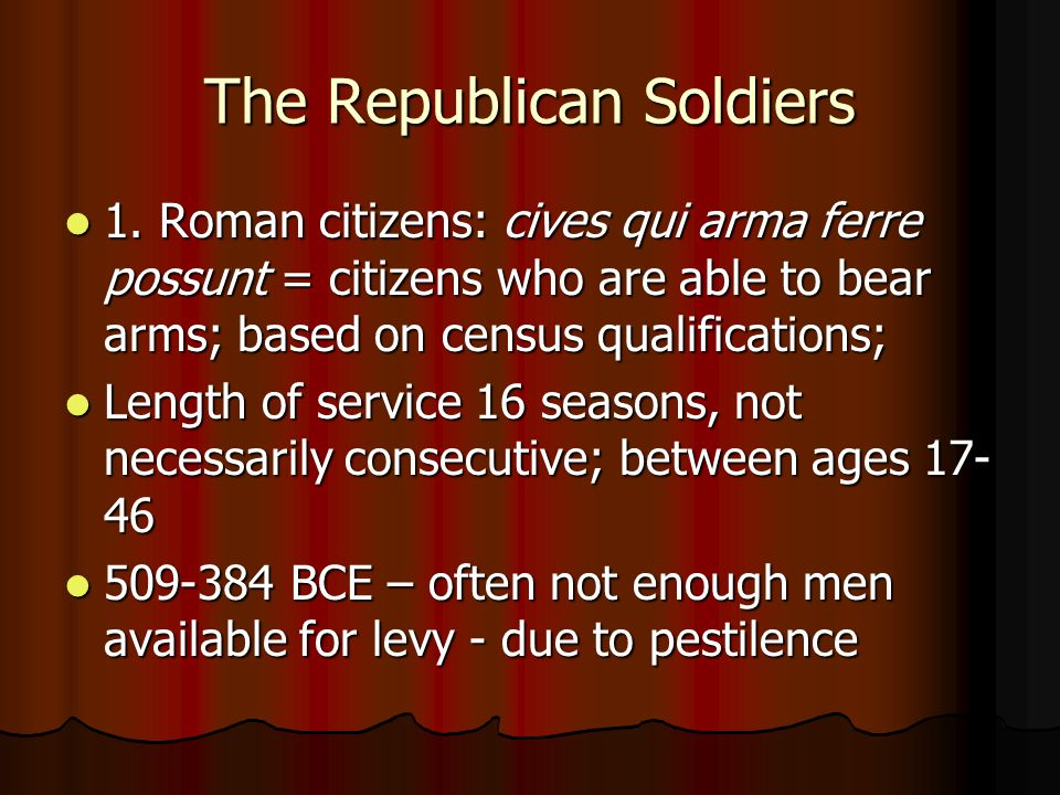The Republican Soldiers