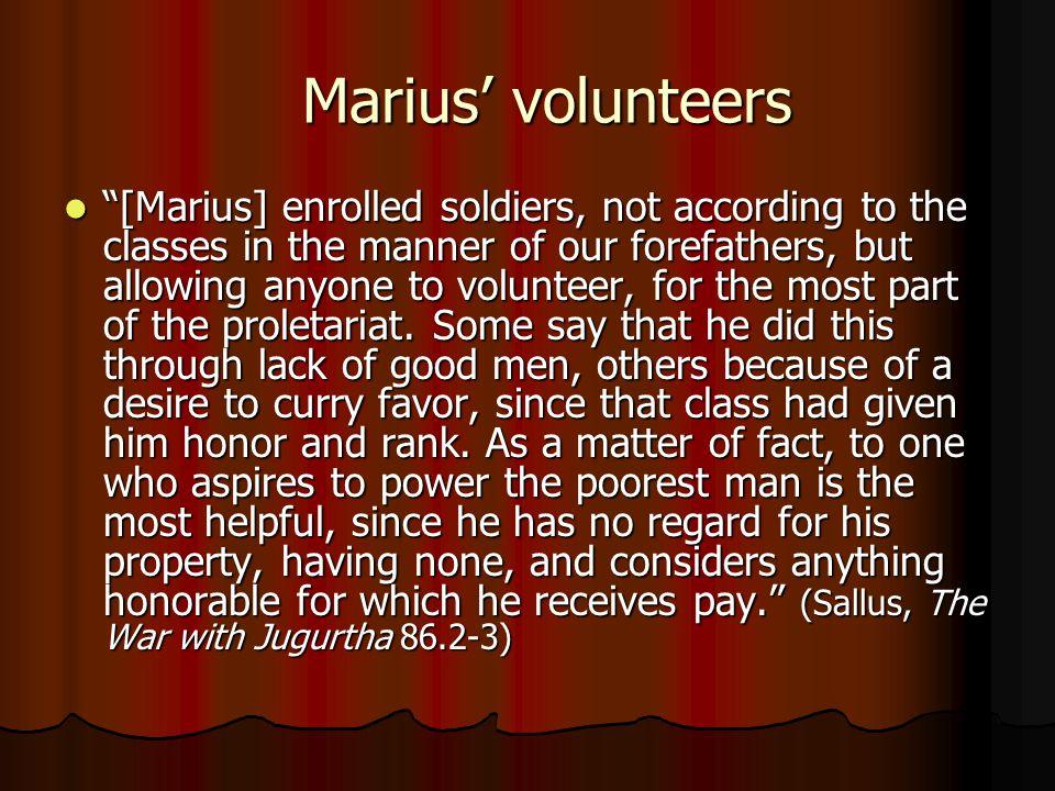 Marius' volunteers