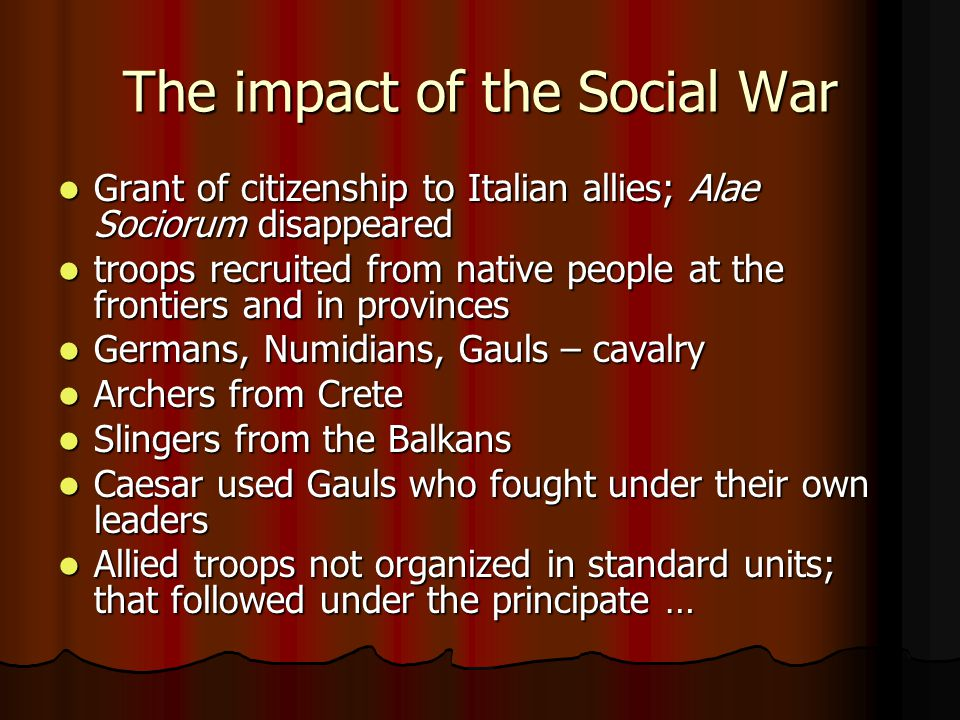 The impact of the Social War
