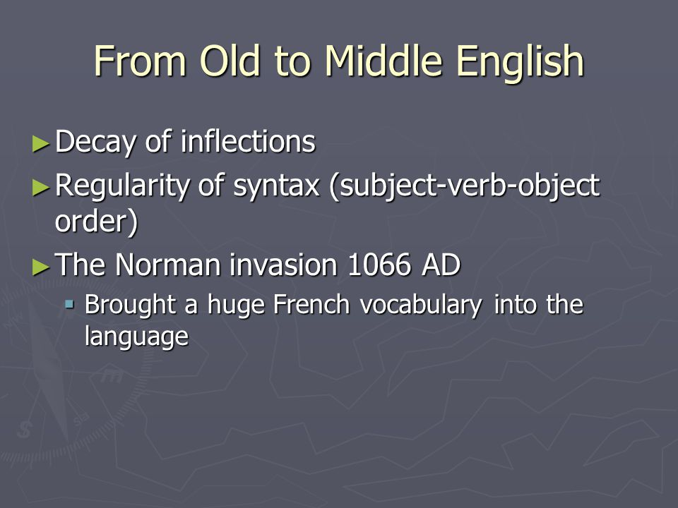 From Old to Middle English