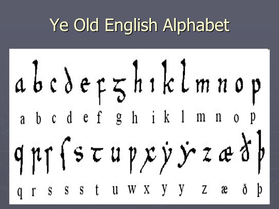 Ye Old English Alphabet