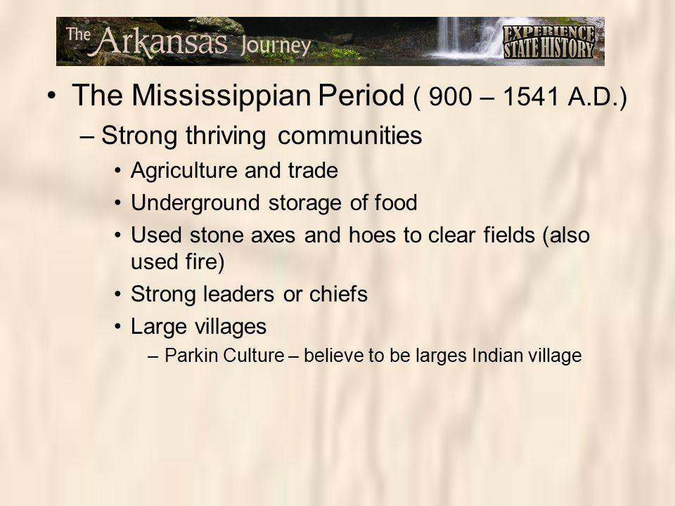 The Mississippian Period ( 900 – 1541 A.D.)