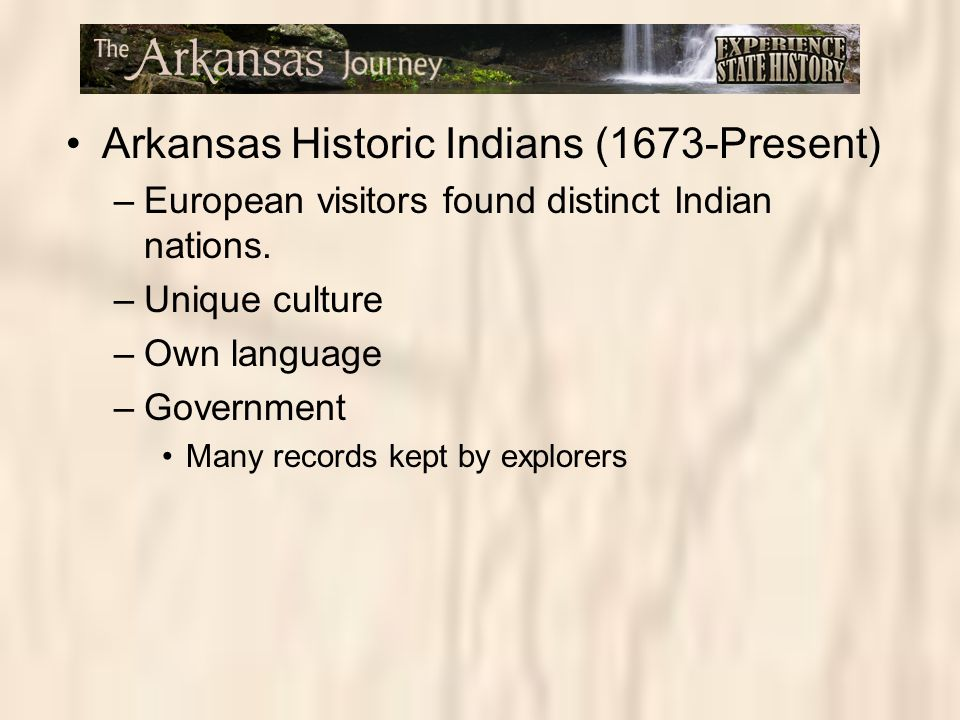 Arkansas Historic Indians (1673-Present)