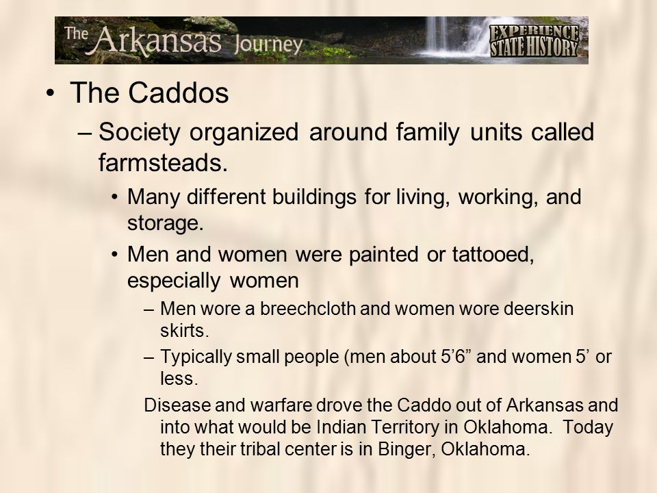 The Caddos Society organized around family units called farmsteads.
