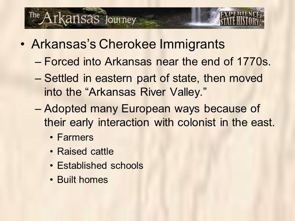 Arkansas's Cherokee Immigrants