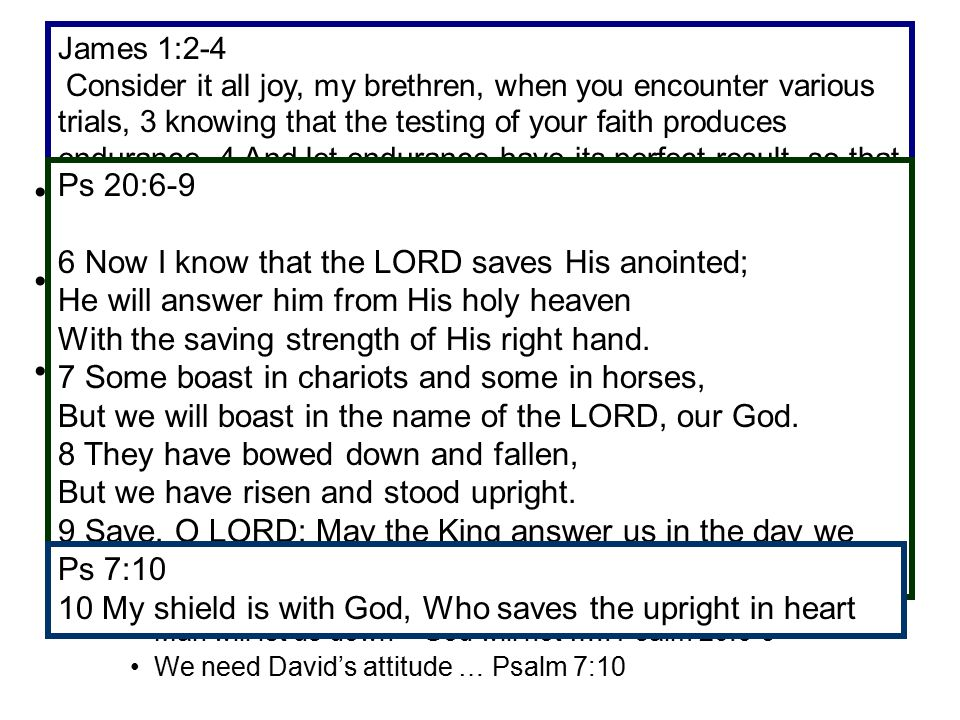 DAVID PUT HIS TRUST IN THE LORD