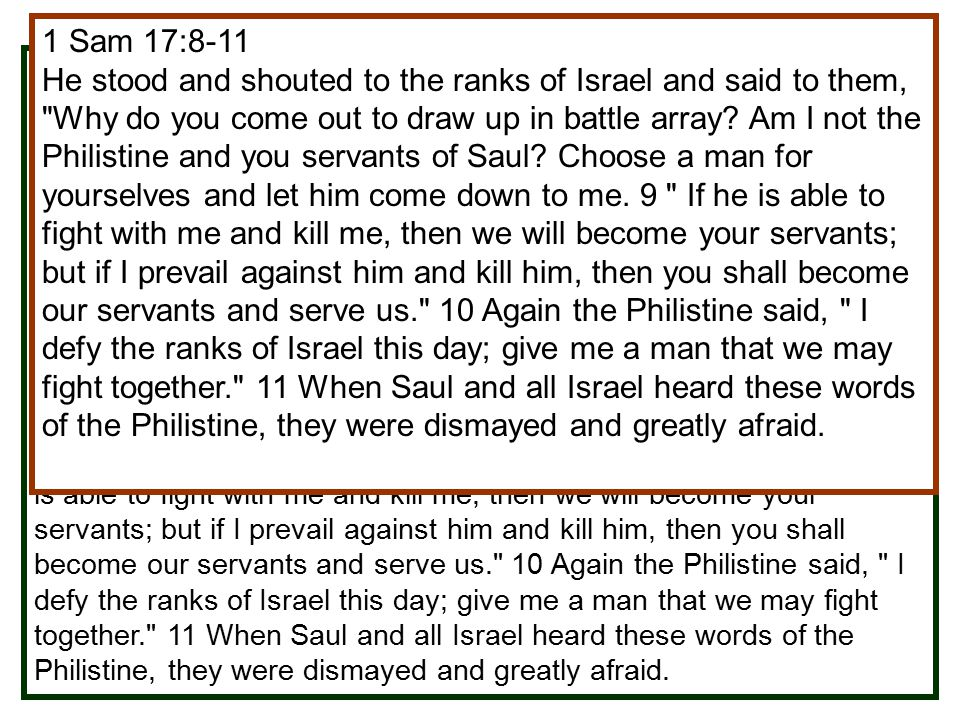 The Battle Scene (1 Sam. 17:1-3)