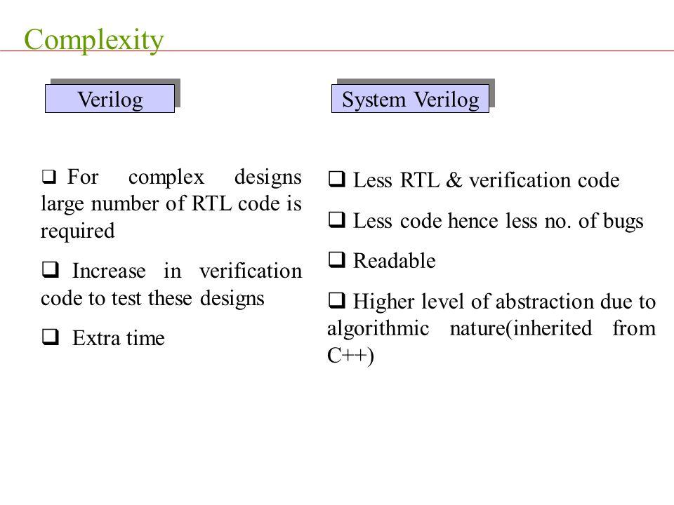 Complexity Verilog System Verilog