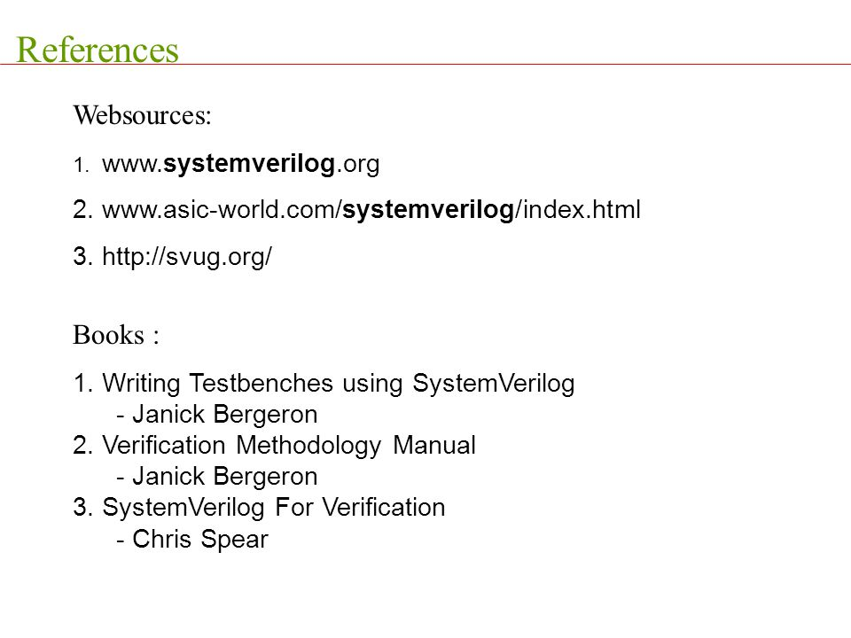 References Websources: Books :