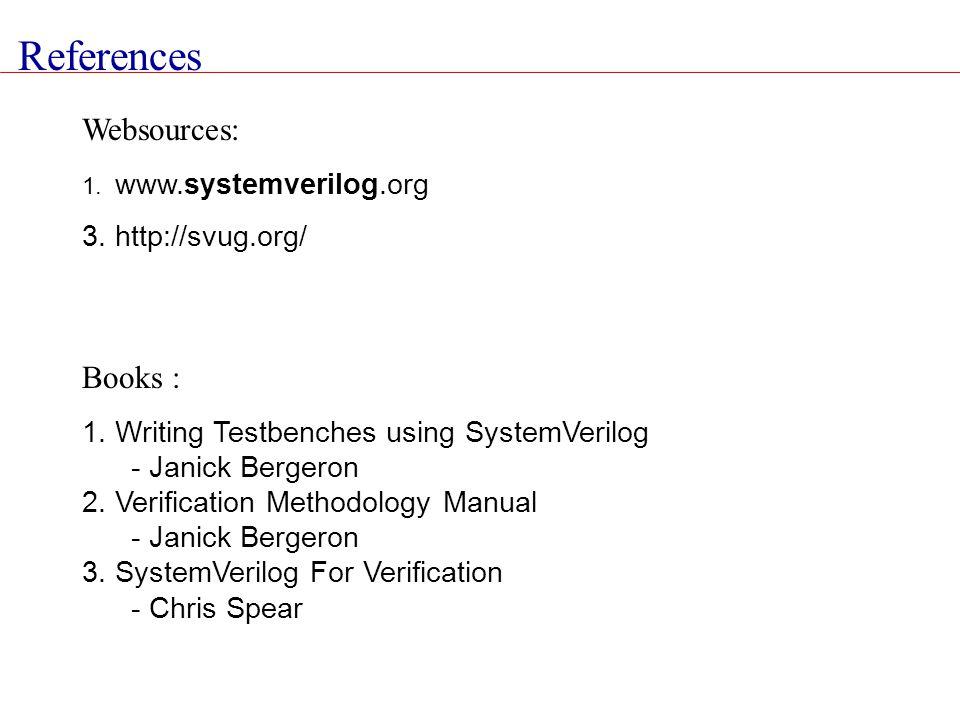 References Websources: Books : 3. http://svug.org/
