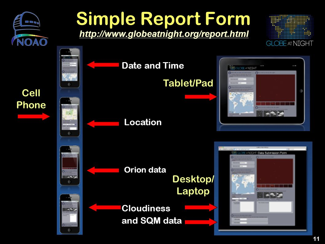 Simple Report Form Tablet/Pad Cell Phone Desktop/ Laptop