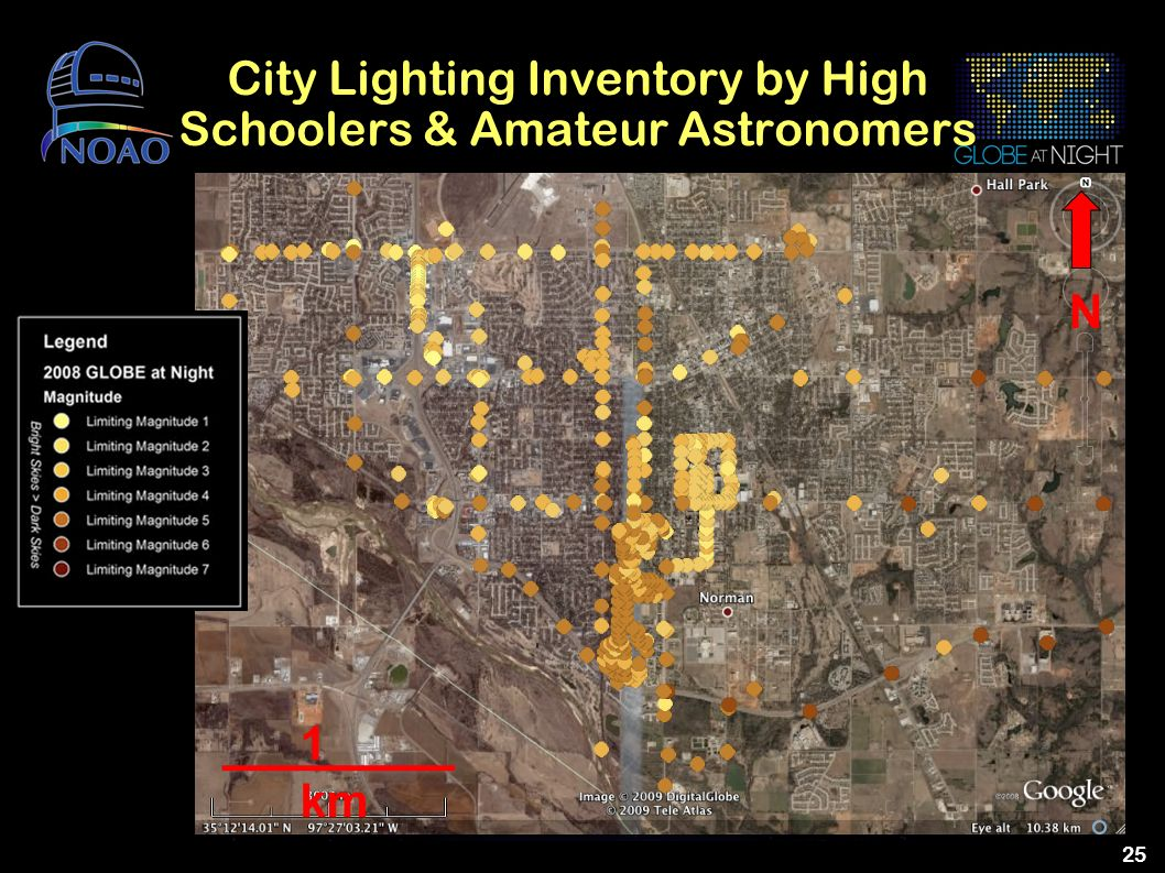 City Lighting Inventory by High Schoolers & Amateur Astronomers
