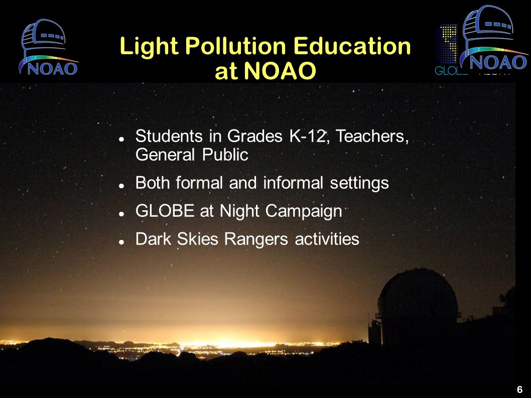 Light Pollution Education at NOAO