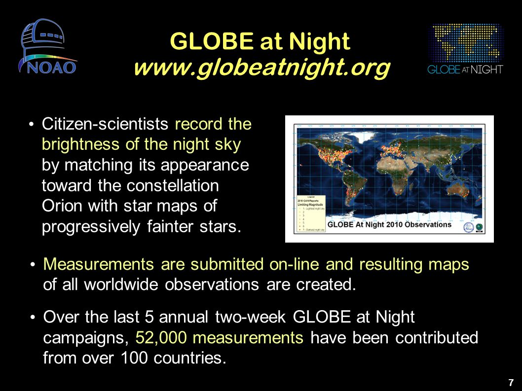 GLOBE at Night www.globeatnight.org