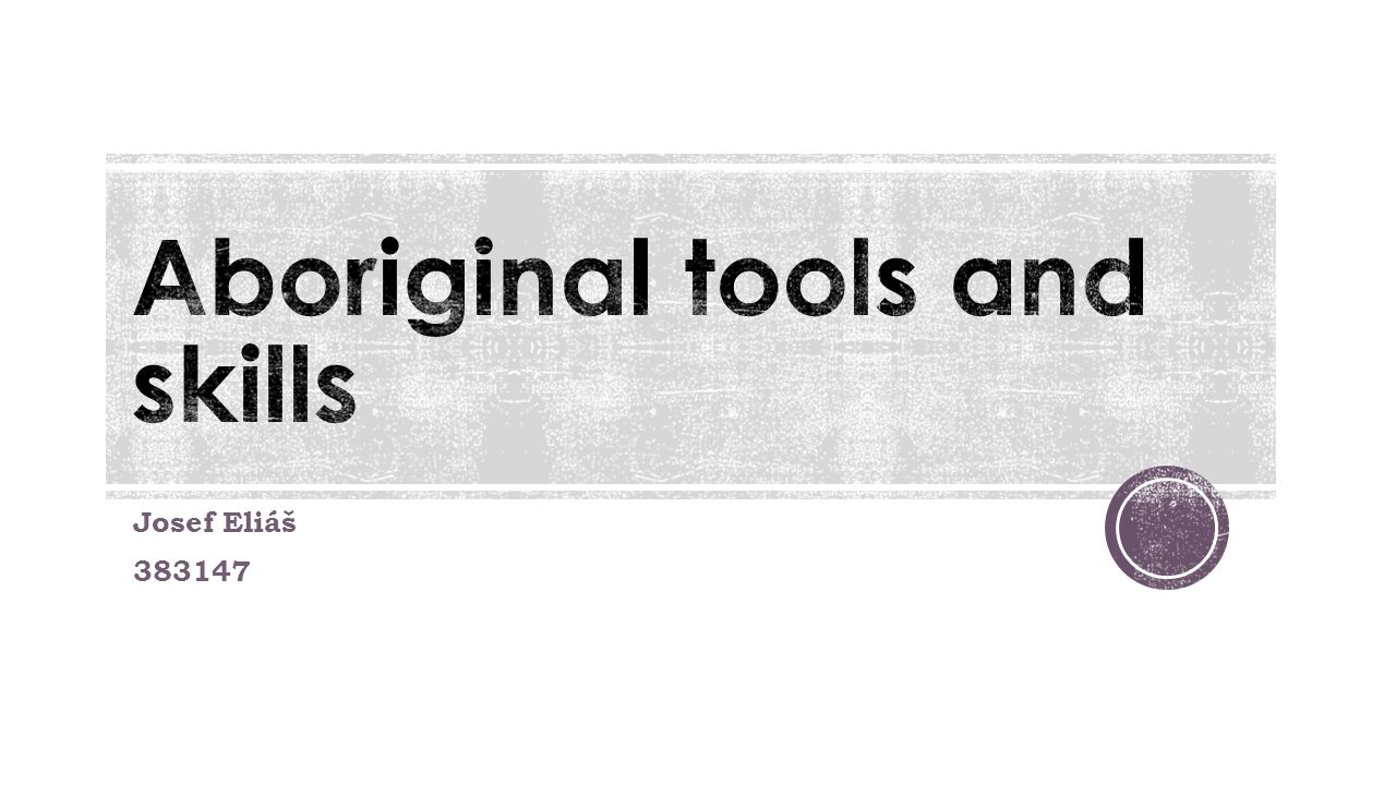 Aboriginal tools and skills