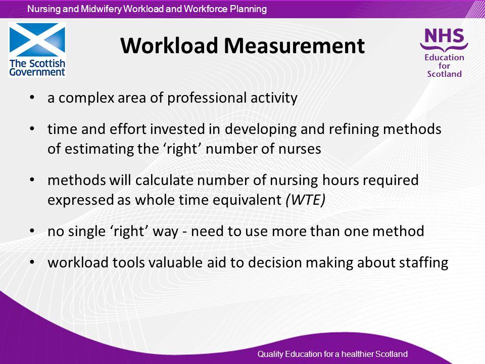 Workload Measurement a complex area of professional activity