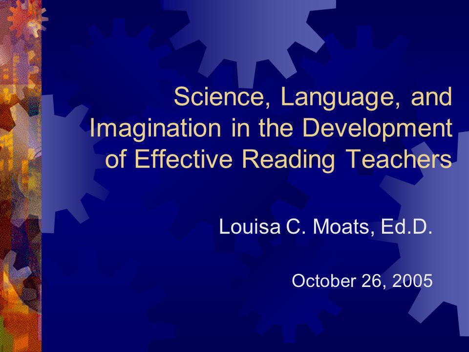 Louisa C. Moats, Ed.D. October 26, 2005