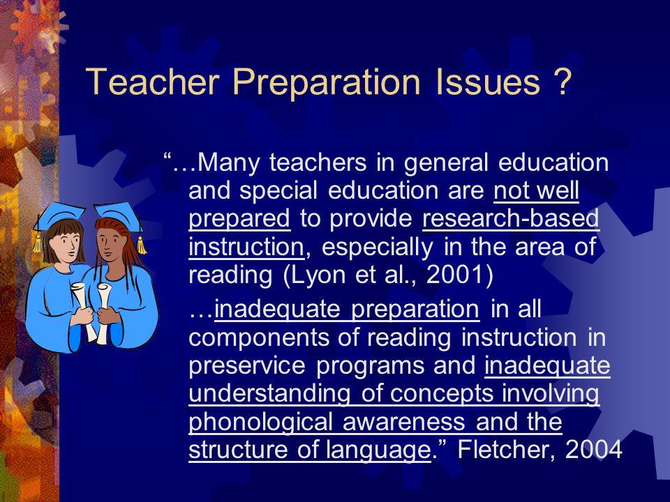 Teacher Preparation Issues