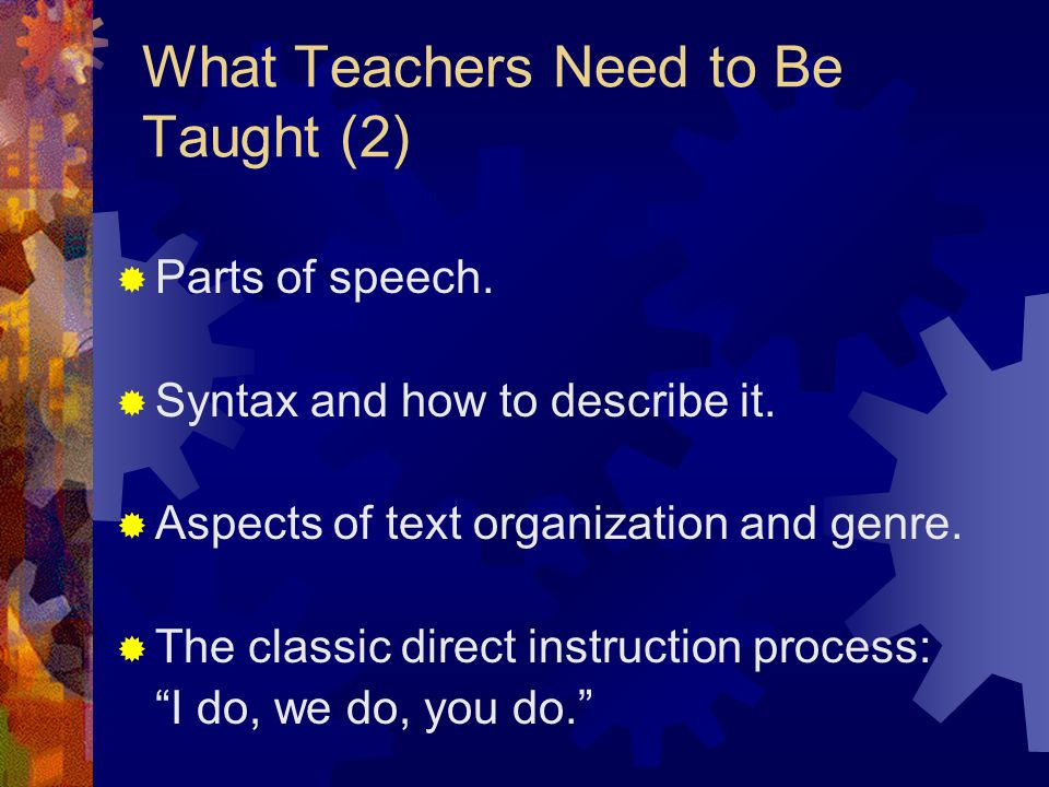 What Teachers Need to Be Taught (2)