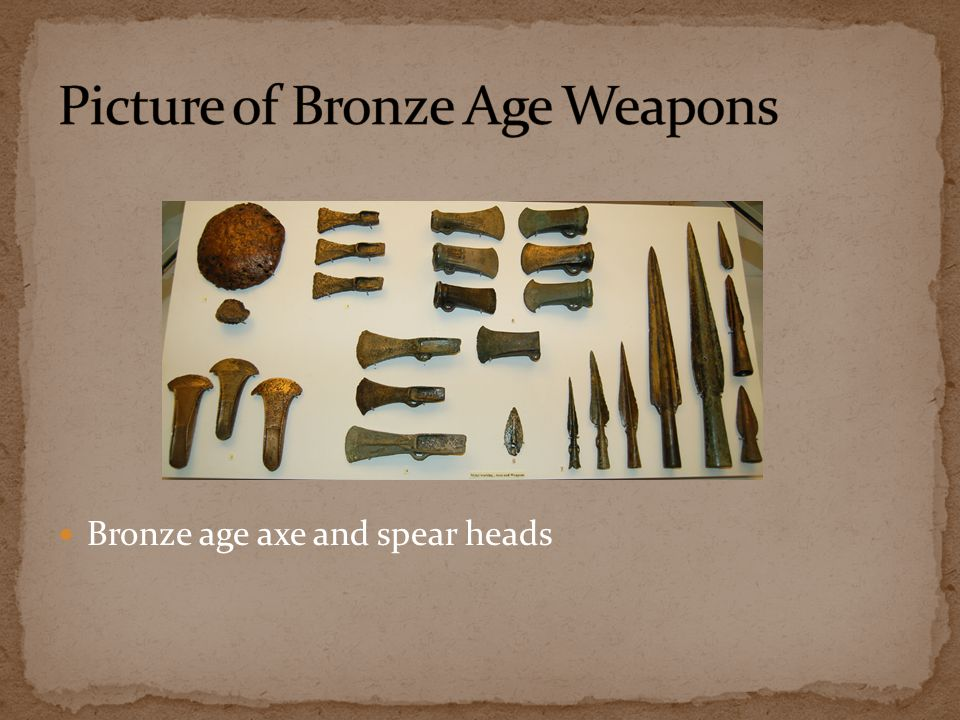 Picture of Bronze Age Weapons