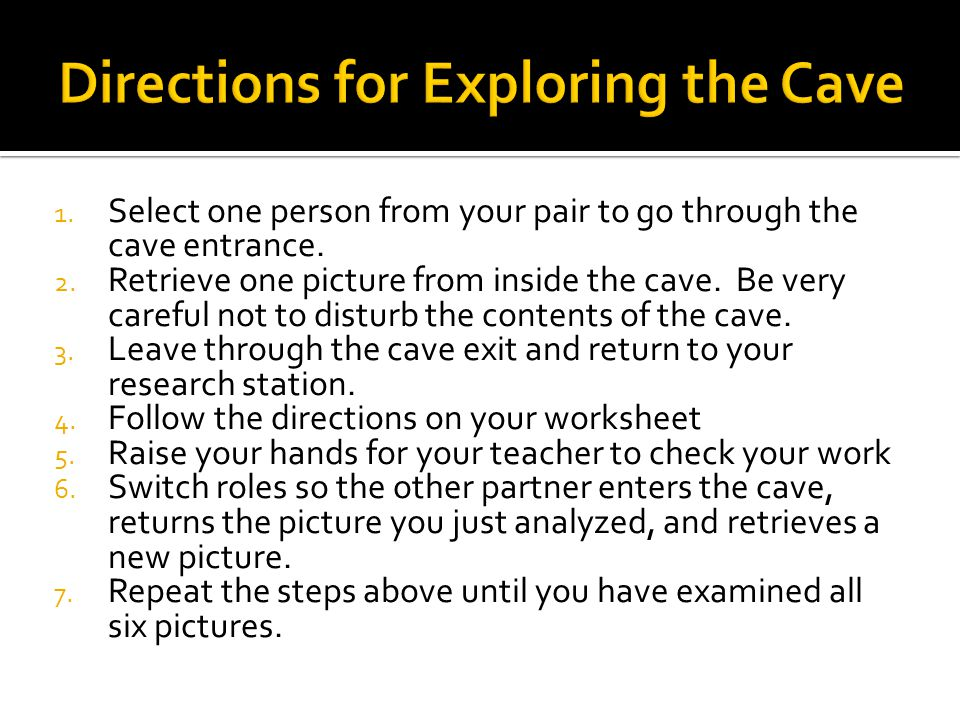 Directions for Exploring the Cave