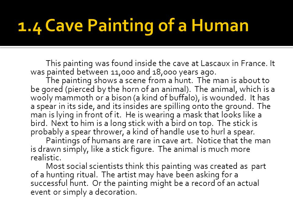 1.4 Cave Painting of a Human
