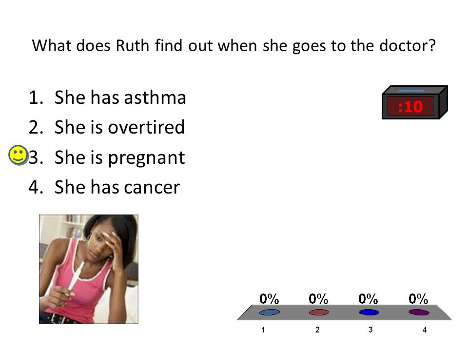 What does Ruth find out when she goes to the doctor