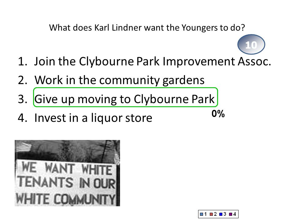 What does Karl Lindner want the Youngers to do