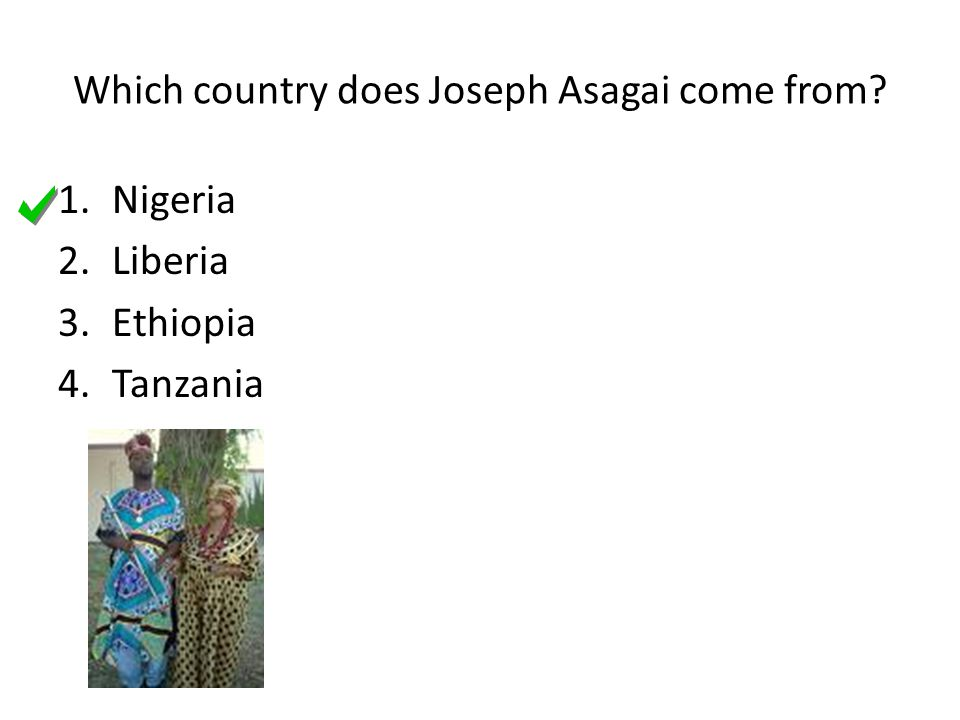 Which country does Joseph Asagai come from