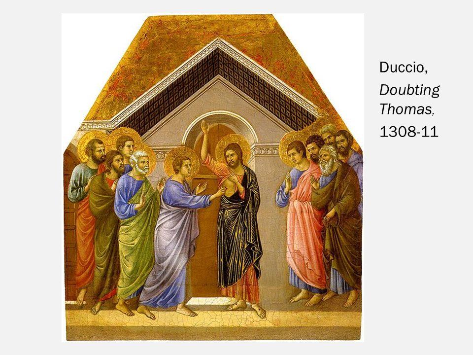 Duccio, Doubting Thomas, 1308-11