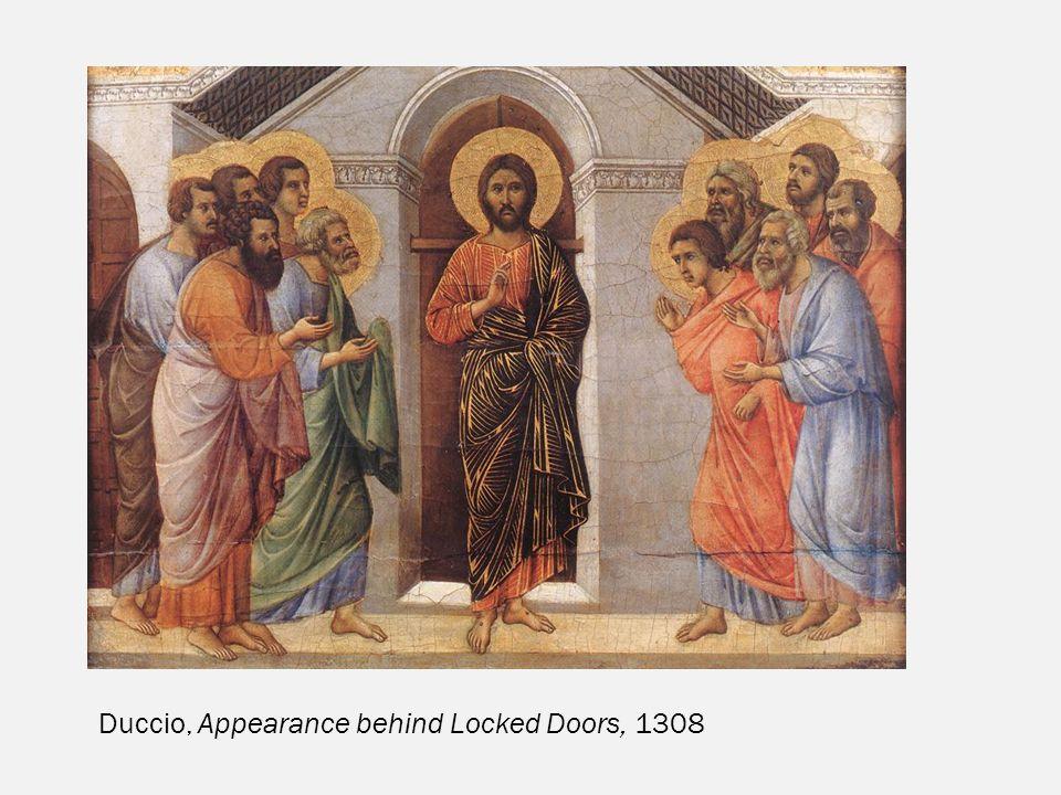Duccio, Appearance behind Locked Doors, 1308