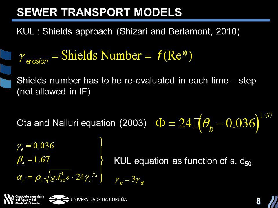 SEWER TRANSPORT MODELS