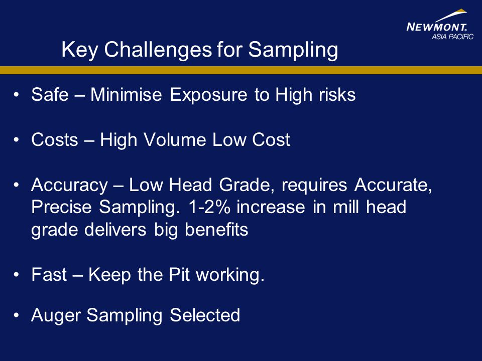 Key Challenges for Sampling