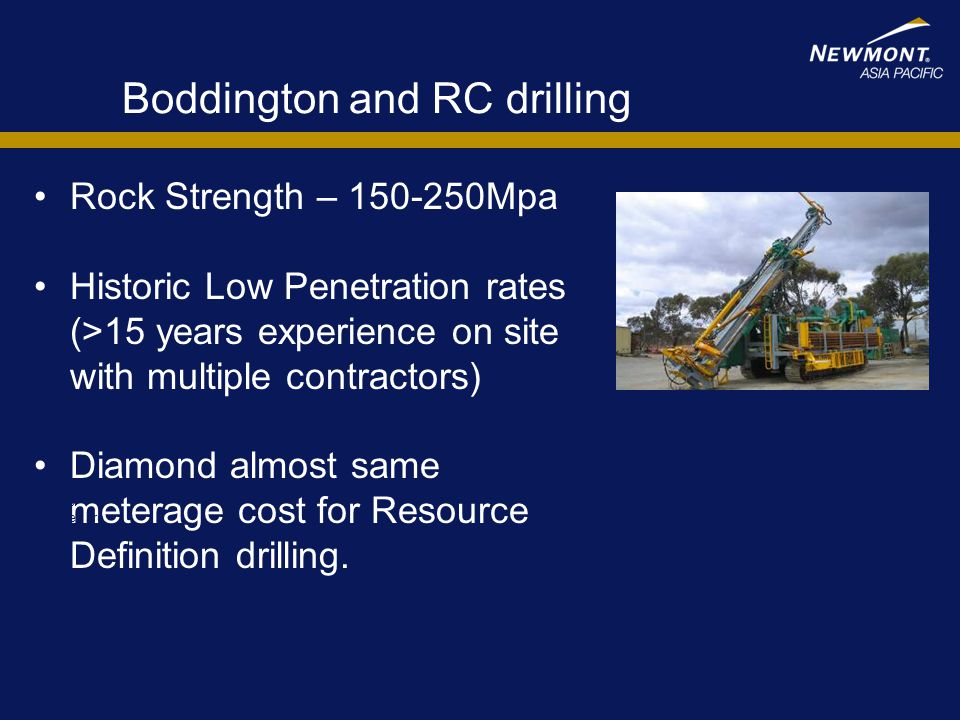 Boddington and RC drilling