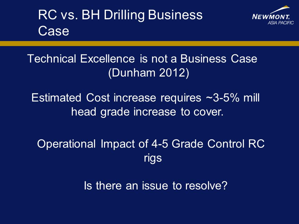 RC vs. BH Drilling Business Case