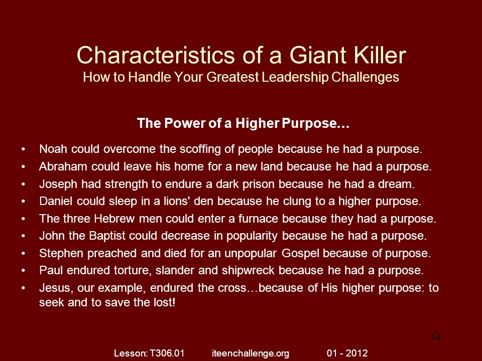 The Power of a Higher Purpose…