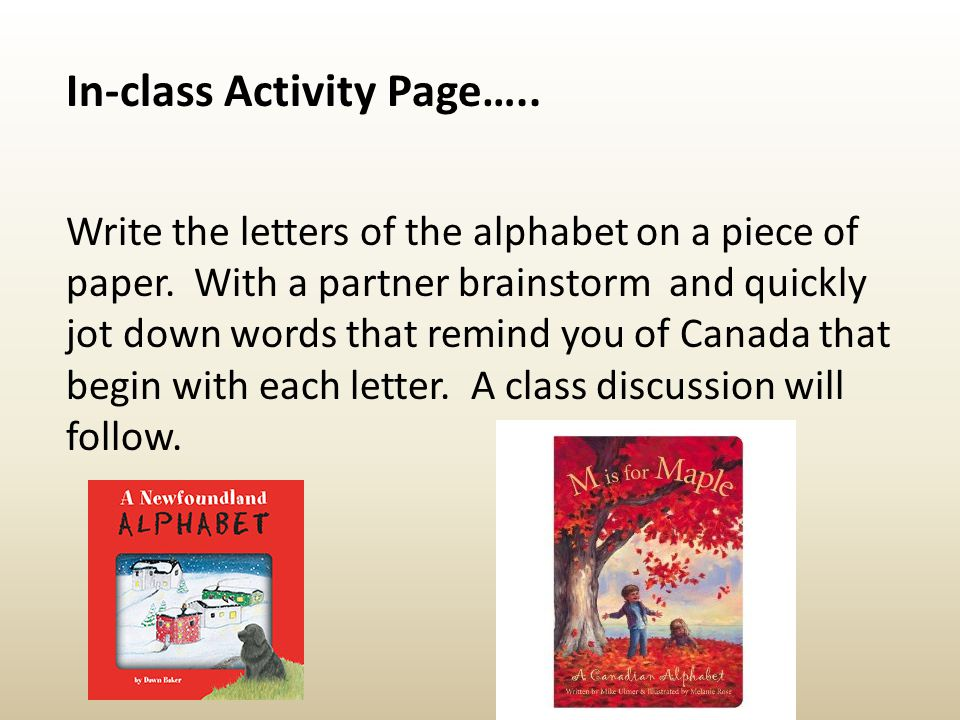 In-class Activity Page…..