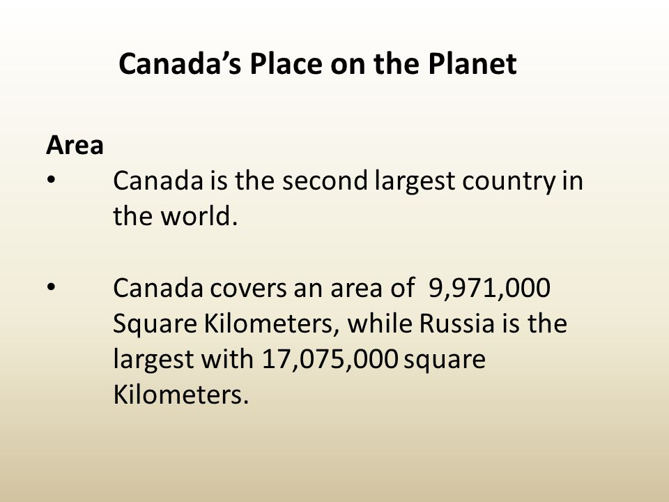 Canada's Place on the Planet