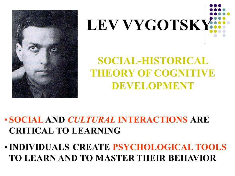 SOCIAL-HISTORICAL THEORY OF COGNITIVE DEVELOPMENT