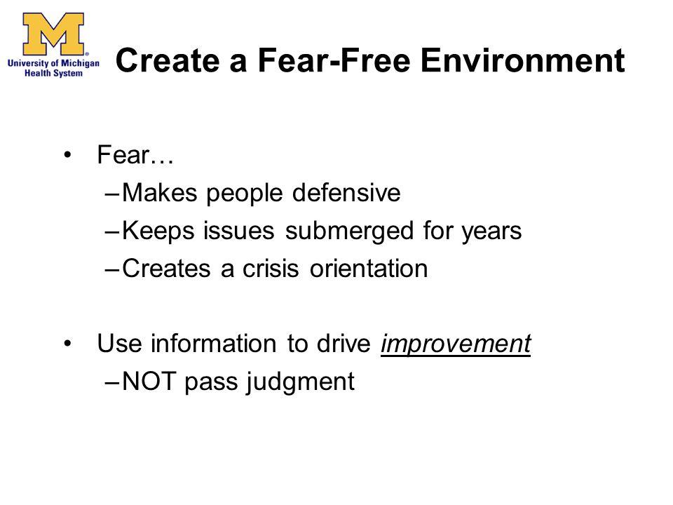 Create a Fear-Free Environment