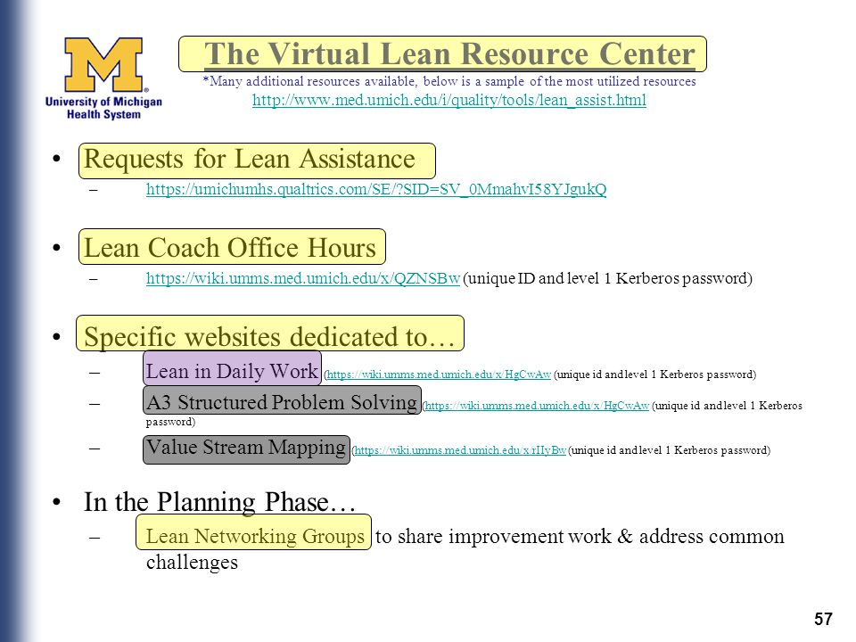 The Virtual Lean Resource Center