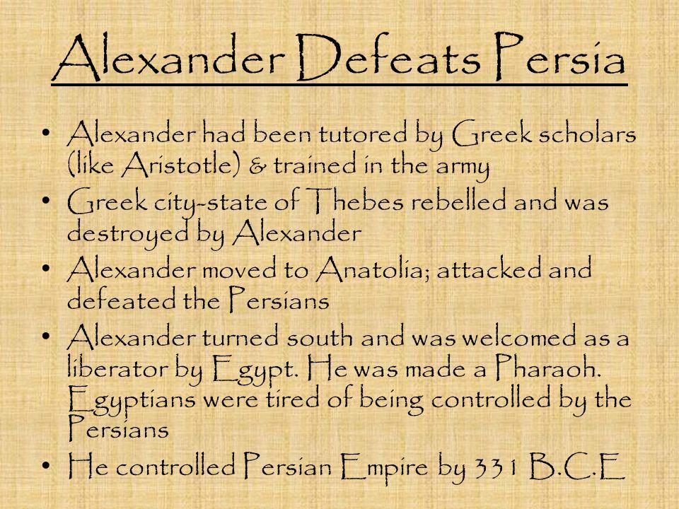 Alexander Defeats Persia