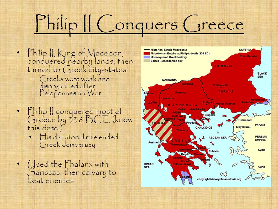 Philip II Conquers Greece