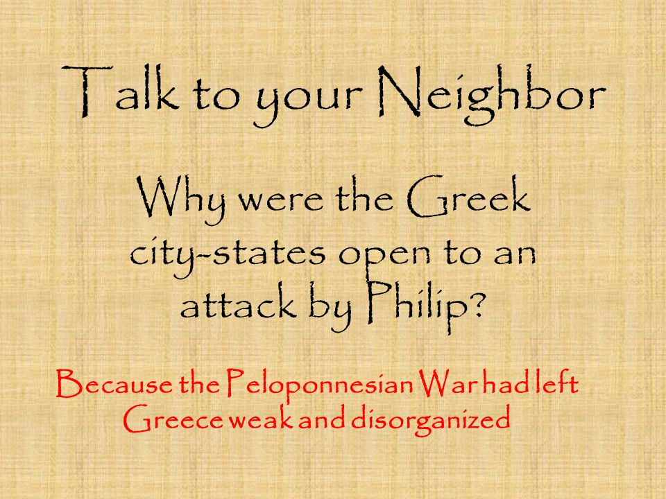 Why were the Greek city-states open to an attack by Philip