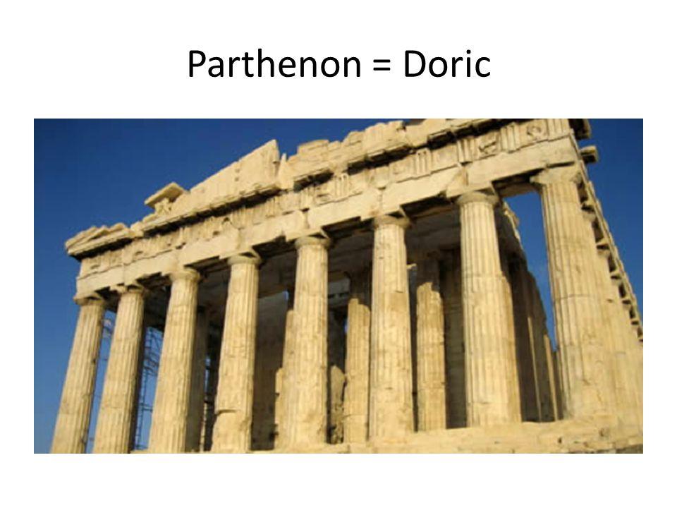 Parthenon = Doric