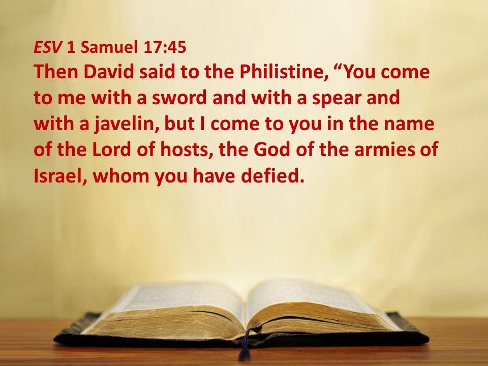 ESV 1 Samuel 17:45
