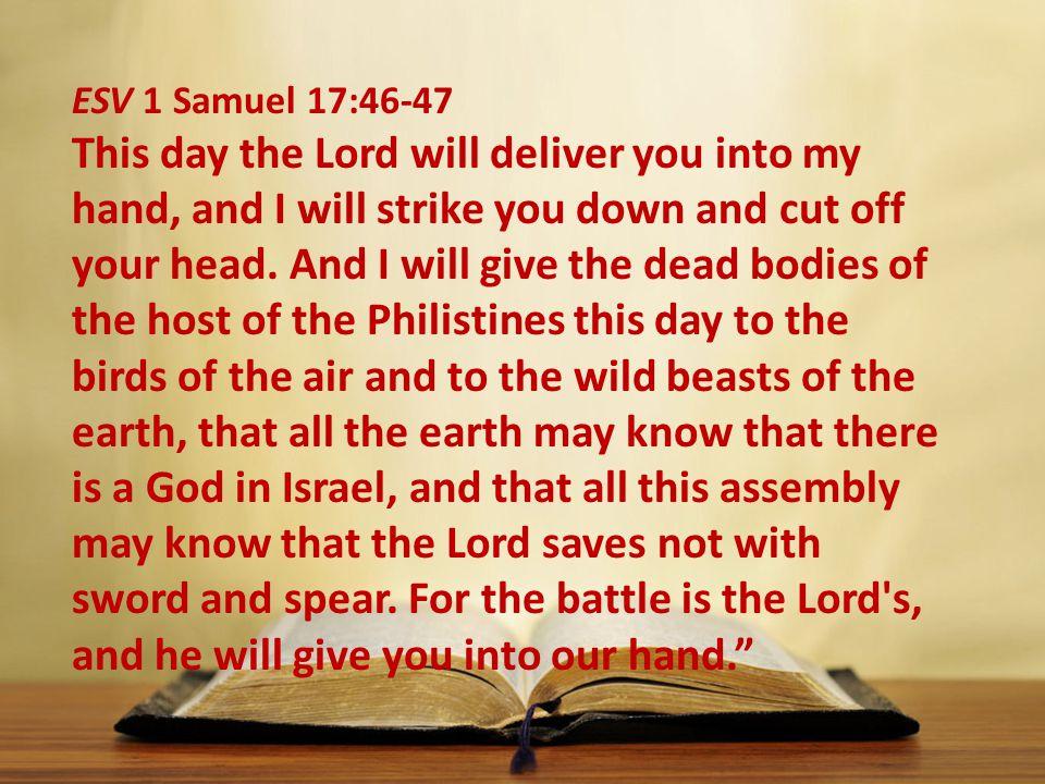 ESV 1 Samuel 17:46-47