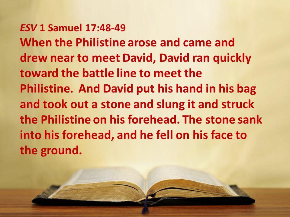 ESV 1 Samuel 17:48-49