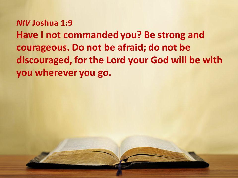 NIV Joshua 1:9
