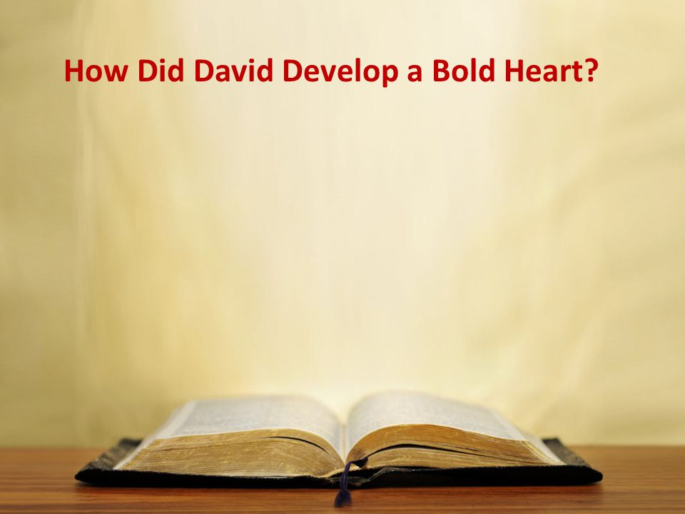 How Did David Develop a Bold Heart